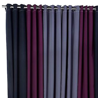 Loft 25 Contemporary Black, Berry and Grey 3 Panel 46&; x 90