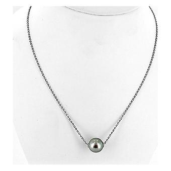 Luna-Pearls Necklace Silver rhod. 925 Tahiti Pearl 11-12mm