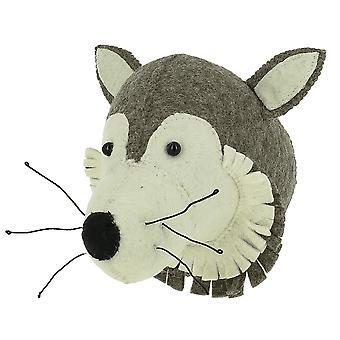 Fiona Walker England Mini Wolf Felt Animal Wall Head