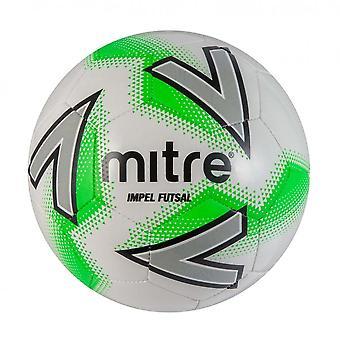 Mitre Impel Indoor Football Futsal Soccer Ball White/Green