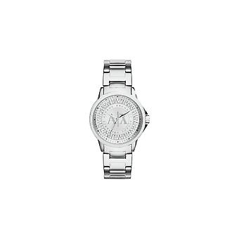 Armani Exchange Ladies 'Lady Banks' Round Silver Crystal Dial Stainless Steel Bracelet Watch AX4320