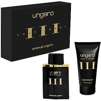 Emanuel Ungaro III Pour L'Homme Gift Set 100ml EDT + 150ml Shampoo & Shower Gel