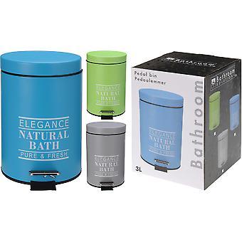 Bathroom Solutions Prullenbak - 3 l - Blauw