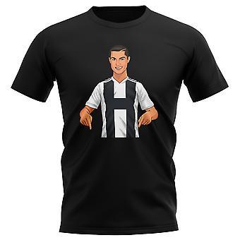 Cristiano Ronaldo Juventus Gunnerballz Camiseta (Negro)