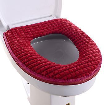 Toiletbrilhoes Badkamer Zacht Dikker Warmer Rekbaar Wasbaar Doek Eenvoudig Installeren & Schoonmaken Comfortabele Toiletbril Cover Pads