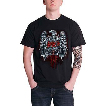 Slayer Mens T Shirt Black Ammunition Eagle Anarchy band logo Official