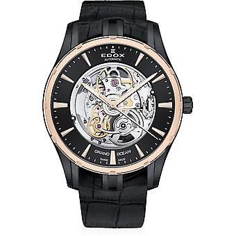 Edox - Wristwatch - Men - Grand Ocean - Automatic Phantom of Time - 85301 357RN NIR