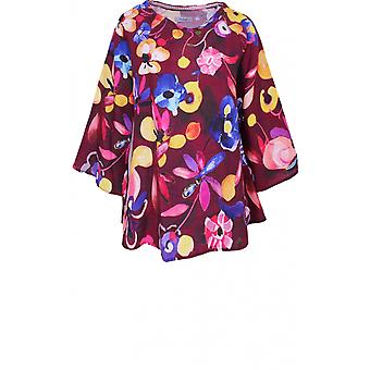 Backstage Bold Floral Print Lniany top