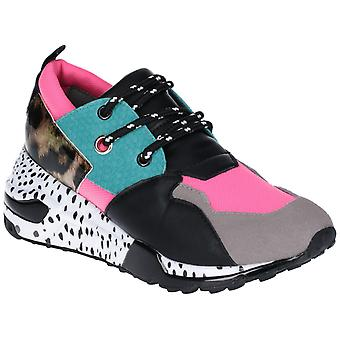Steve Madden Womens Cliff Lace Up Trainer Multicoloured