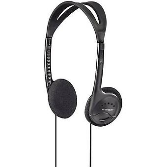 Thomson HED1115BK On-ear headphones On-ear Light-weight headband Black