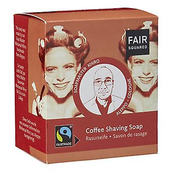 Fair Squared Coffee, Shea and Coconut Shaving Soap 2 of 80 gr