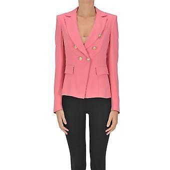 Nenette Ezgl266140 Kvinder's Pink Viscose Blazer