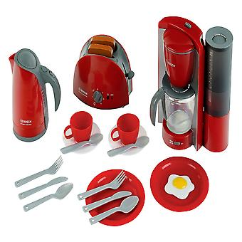 theo klein red bosch breakfast set pretend play for ages 3 and above