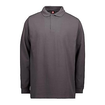 ID Mens Pro Wear Long Sleeved Polo Shirt