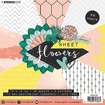 Studio Light Paper Pad Sweet Flowers nr.137 PPSFL137 15x15 cm
