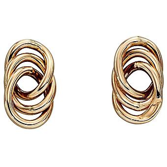 Elements Gold Interlinked Circle Stud Earrings - Gold