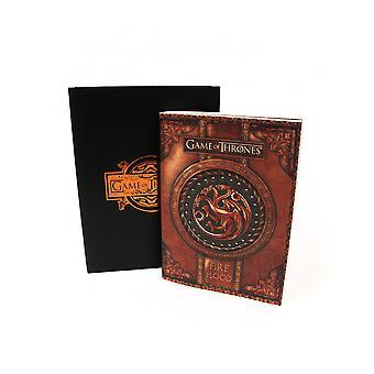 Officielle spil af troner ild og blod lille notesbog / Journal