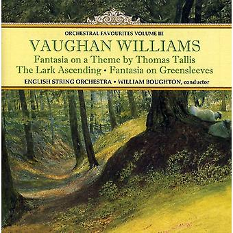 R. Vaughan Williams - Vaughan Williams: Orchestral favoriter, Vol. 3 [CD] USA import