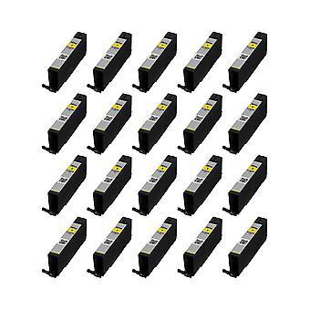 RudyTwos 20 x Ersatz für Canon CLI-581YXXL Tinte Einheit Yellow(ExtraHighYield) kompatibel mit Pixma iP4850 iP4950, iX6550, MG5150, MG5250 MG5300, MG5320, MG6150, MG6250, MG6220, MG8170, MG8150, MG8