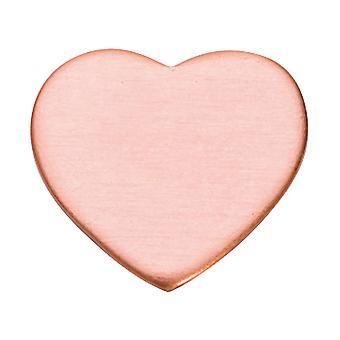 Pacote de coração de cobre blanks de 6 12,7mm X 1mm