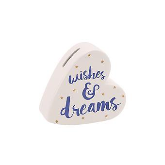 Articles cadeaux CGB Oh tellement jolie souhaits et rêves en céramique coeur argent banque
