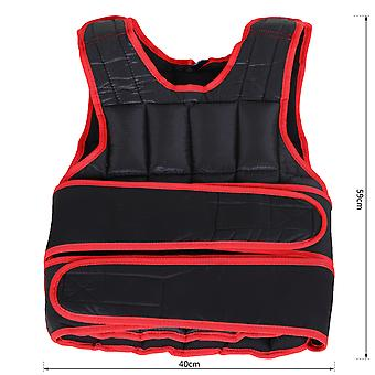 HOMCOM 15kg Men Or Women Waist Trainer Vest Adjustable Weighted w/ 38 Weight Bags  Easy Use Cardio Running Fitness Black Red For Weight Loss Exercise Workout
