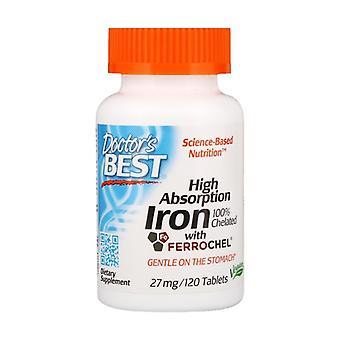 Hoog absorptieijzer, 27mg 120 tabletten