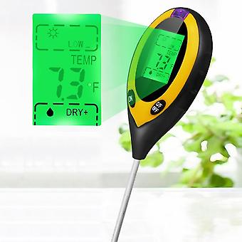 4 In 1 Digital Ph Meter - Bodenfeuchte Monitor, Temperatur Sonnenlicht Tester