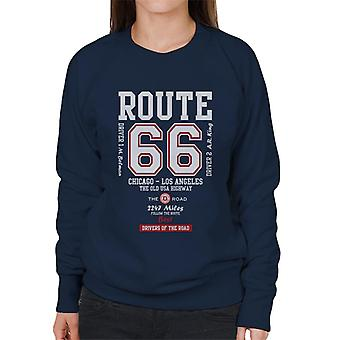 Route 66 The Old USA Highway Women's Sweatshirt