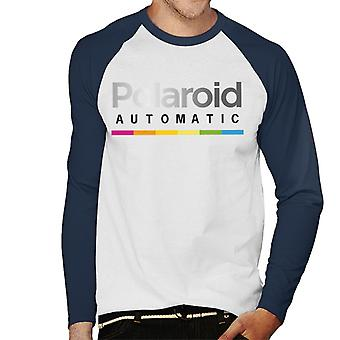 Polaroid Colorful Gradient Automatic Men's Baseball Long Sleeved T-Shirt