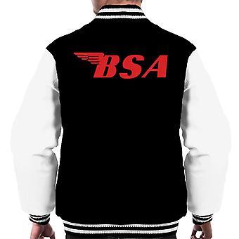 BSA Red Logo Men's Varsity Jacket