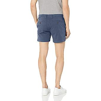 Goodthreads Men-apos;s 5-quot; Inseam Flat-Front Stretch Chino Shorts, -navy, 33