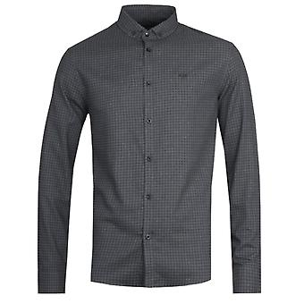 Armani Exchange Slim Fit Charcoal Check Camicia