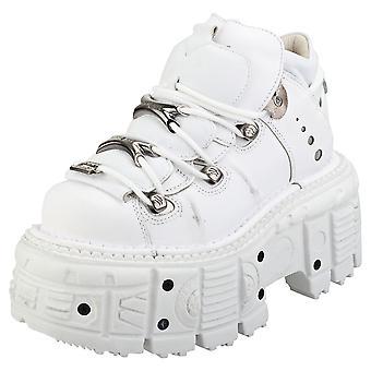 New Rock M-tank106-c1 Unisex Platform Shoes in White