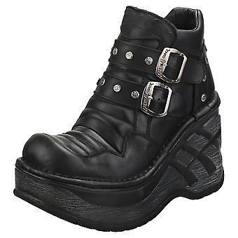 New Rock Rock Punk Gothic Hashtag Womens Platform Boots in Black