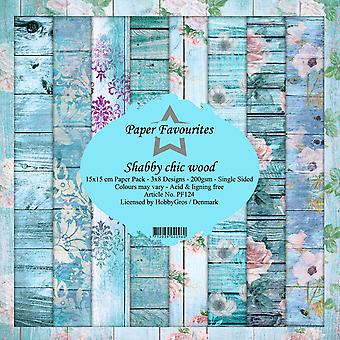 Dixi Craft Shabby Chic Wood 6x6 Inch Paper Pack