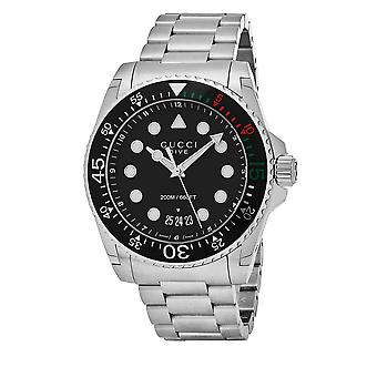 Gucci YA136208 Dive XL Black Dial Stainless Steel Men's Watch
