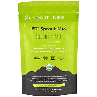Sprout Living, FD Sprout Mix, Broccoli & Kale, 4 oz (113 g)