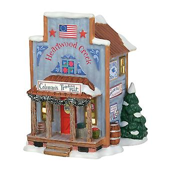 Dept 56 Christmas New England Village Coleman's Trading Post