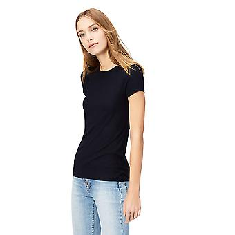 Brand - Daily Ritual Women's Ribbed Short-Sleeve Crew Neck Shirt, Navy...