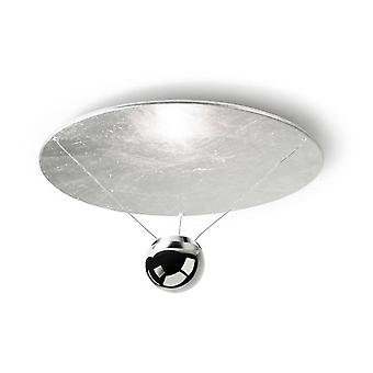 LED 1 kevyt himmennettävä puolihuuhtelu katto vaalea hopea