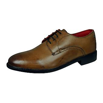 Base Londen Novello mens lederen schoenen-Tan