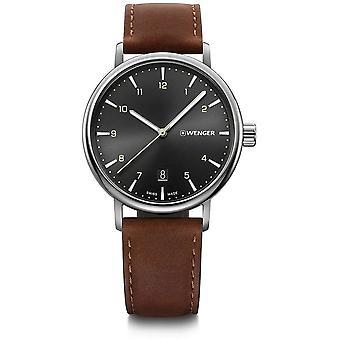 ヴェンゲル - 腕時計 - ユニセックス - アーバンクラシック - 01.1731.115 - 黒, 40 mm