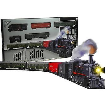 Trem rail king definir fumaça locomotiva brinquedo realista