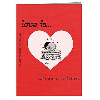 Liebe ist der Weg, um Stress Grußkarte zu schlagen