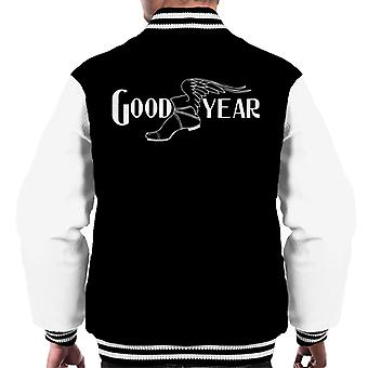 Goodyear Black And White Logo Men's Varsity Jacket