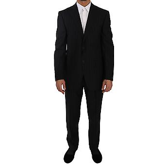 Z ZEGNA Two Piece 2 Button Wool Blue Striped Suit