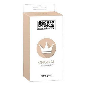 Paquete original de condones transparentes Secura kondome de 24