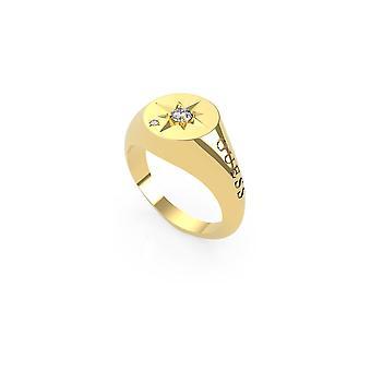 נחש תכשיטים Wanderlust זהב מצפן קריסטל טבעת UBR20011-54