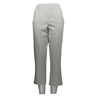 H by Halston Women's Pants Studio Stretch Pull-On Crop Gray A276297